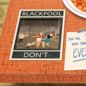 postcard mockup blackpool