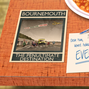 postcard mockup bournemouth