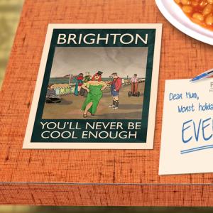 postcard mockup brighton