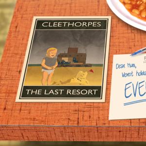 postcard mockup cleethorpes