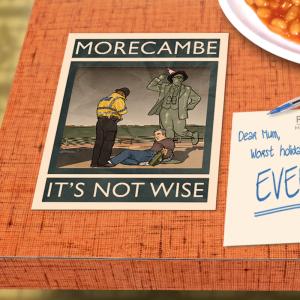 postcard mockup morecambe