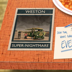 postcard mockup weston super mare