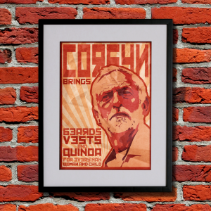 corbyn brings beards vest and quinoa for every man woman and child propaganda poster