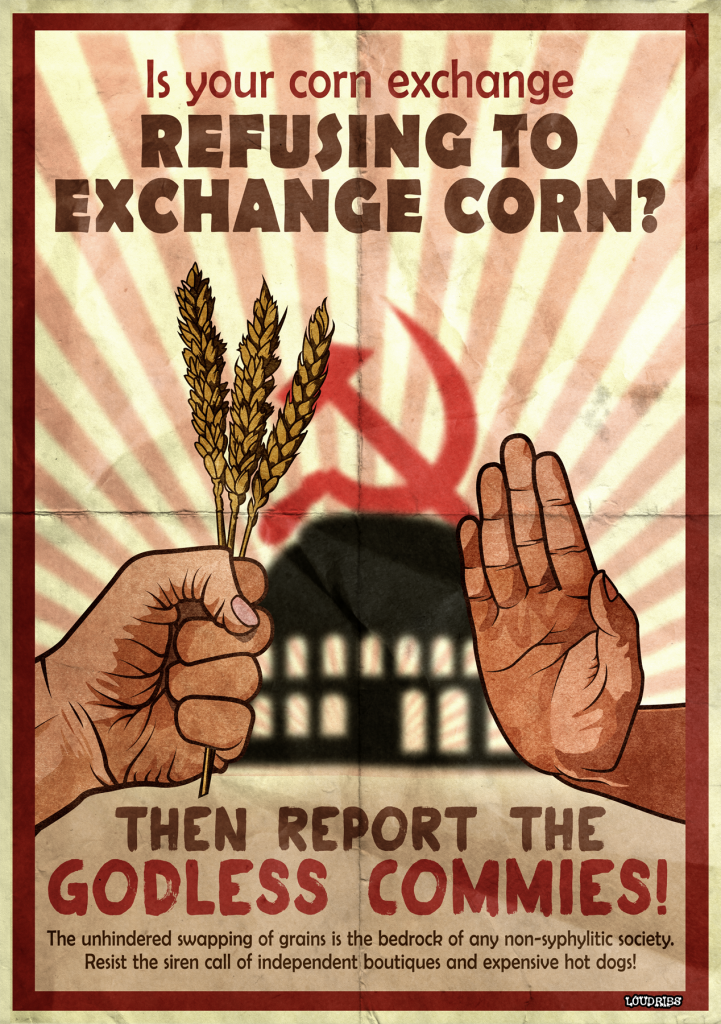leeds corn exchange refuse to propaganda poster
