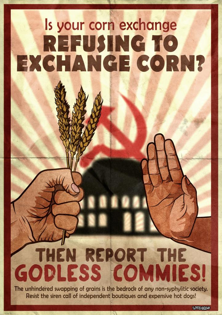 leeds corn exchange refuse to propaganda poster