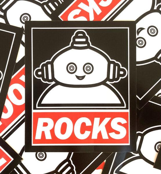 makka pakka rocks sticker